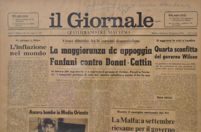 """""""Come nacque e come andò in edicola  Il Giornale"""""""