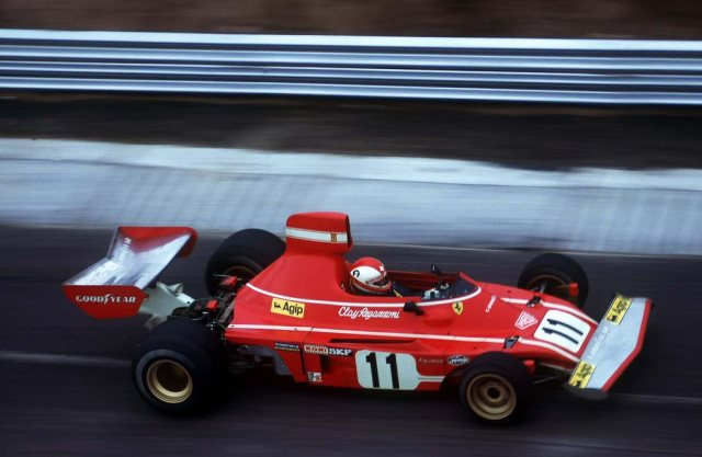 Clay Regazzoni su Ferrari, G.P. di Germania del 1974
