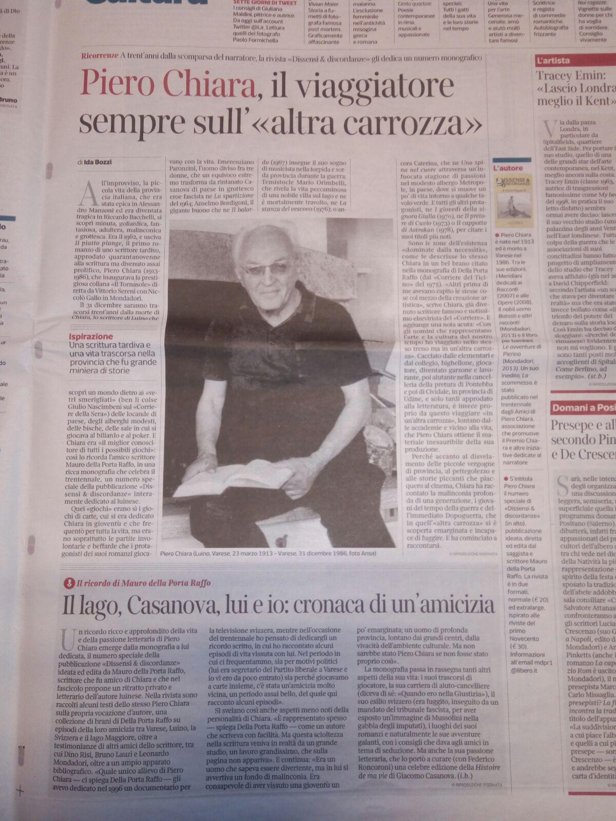 Piero Chiara, il viaggiatore sempre «sull'altra carrozza»