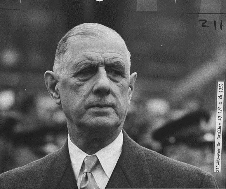 Conferenza stampa del generale Charles De Gaulle a proposito dell'entrata dell'Inghilterra nella CEE - 27 novembre 1967